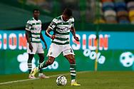 Matheus Reis in action during the Liga NOS match between Sporting Lisbon and Belenenses SAD at Estadio Jose Alvalade, Lisbon, Portugal on 21 April 2021.