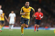 Santi Cazorla of Arsenal in action. UEFA Champions league group A match, Arsenal v FC Basel at the Emirates Stadium in London on Wednesday 28th September 2016.<br /> pic by John Patrick Fletcher, Andrew Orchard sports photography.