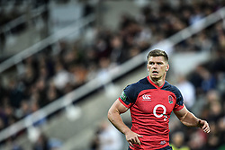 Owen Farrell of England in action during <br /> <br /> Photographer Craig Thomas/Replay Images<br /> <br /> Quilter International - England v Italy - Friday 6th September 2019 - St James' Park - Newcastle<br /> <br /> World Copyright © Replay Images . All rights reserved. info@replayimages.co.uk - http://replayimages.co.uk