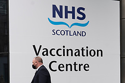 Edinburgh, Scotland, UK. 31 February 2021. Mass Covid-19 vaccination centre opens today at EICC ( Edinburgh International Conference Centre ) in Edinburgh. Members of the public with appointments arrive for their vaccinations. Iain Masterton/Alamy Live News
