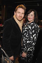 Shoe designers RUPERT SANDERSON and OLIVIA MORRIS at a party to celebrate the fact that Cordwainers at London College of Fashion has won the Queens Anniversary Prize, held at liberty, Great marlborough Street, London on 21st February 2008.<br /><br />NON EXCLUSIVE - WORLD RIGHTS