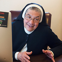 Mother Magda Garcia in her office at The Sisters of Our Lady of Guadalupe and St. Joseph on South Puerco Drive in Gallup.
