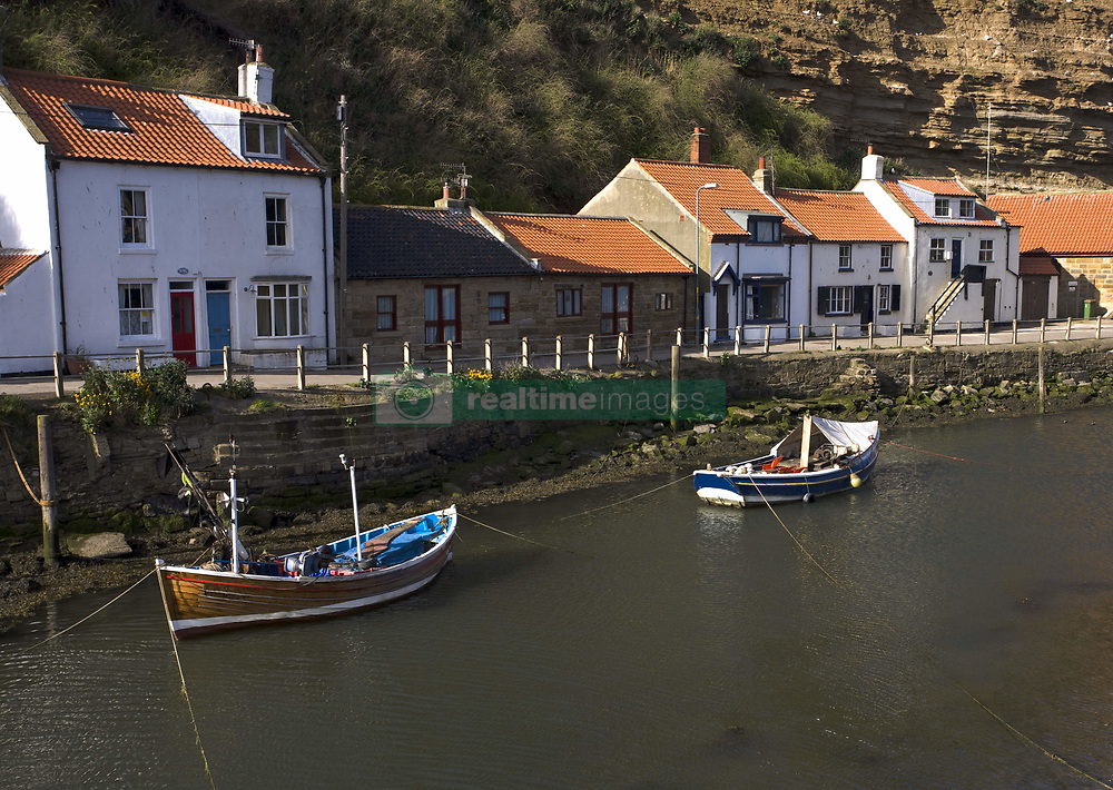 July 21, 2019 - Boats Moored On River, Staithes, Yorkshire, England (Credit Image: © John Short/Design Pics via ZUMA Wire)