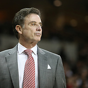 Louisville head coach Rick Pitino is seen on the sidelines during an NCAA basketball game between the 14th ranked Louisville Cardinals and the UCF Knights at the CFE Arena on Tuesday, December 31, 2013 in Orlando, Florida. (AP Photo/Alex Menendez)