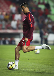October 10, 2017 - Lisbon, Portugal - Portugal's forward Cristiano Ronaldo warming up moments before the FIFA 2018 World Cup Qualifier match between Portugal and Switzerland at the Luz Stadium on October 10, 2017 in Lisbon, Portugal. (Credit Image: © Carlos Costa/NurPhoto via ZUMA Press)