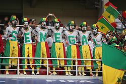 MOSCOW, June 19, 2018  Fans of Senegal cheer during a Group H match between Poland and Senegal at the 2018 FIFA World Cup in Moscow, Russia, June 19, 2018. (Credit Image: © Fei Maohua/Xinhua via ZUMA Wire)