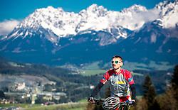 05.05.2016, Kitzbuehler Horn, Kitzbuehel, AUT, OeSV, Skisprung, Lehrgang Mountainbike Tour, im Bild Manuel Poppinger (AUT) // Manuel Poppinger of Austria during a mountain bike ride of the Austrian ski jumping Team at the Kistbuehler Horn, Kitzbuehel, Austria on 2016/05/05. EXPA Pictures © 2016, PhotoCredit: EXPA/ JFK