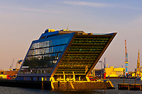 The Dockland Building in Hafen City (the harbor along the Elbe RIver), Hamburg, Germany