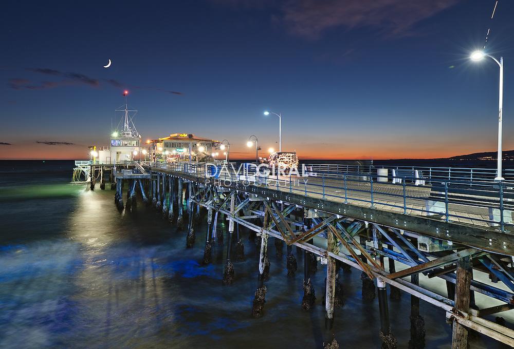 Blue Hour on the Pier   An Evening at Santa Monica Pier, Los Angeles, California, USA