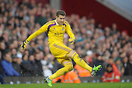 Goalkeeper Adrian of West Ham United in action. Barclays Premier league match, West Ham Utd v Swansea city at the Boleyn ground, Upton Park in London on Sunday 7th December 2014.<br /> pic by John Patrick Fletcher, Andrew Orchard sports photography.