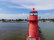 Photograph of the Algoma Lighthouse, Algoma, Wisconsin, USA.