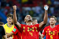 KAZAN, RUSSIA - JULY 6 : Vincent Kompany defender of Belgium celebrates  during the FIFA 2018 World Cup Russia Quarter-final match between Brazil and Belgium at the Kazan Arena Stadium on July 06, 2018 in Kazan, Russia, 6/07/2018 <br /> Brasil - Belgia