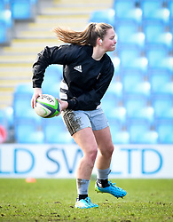 Ellie Green of Harlequins warms up before the game - Mandatory by-line: Andy Watts/JMP - 06/02/2021 - Sandy Park - Exeter, England - Exeter Chiefs Women v Harlequins Women - Allianz Premier 15s