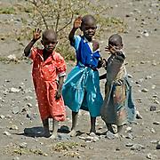Maasai children.  Lake Natron, far north Tanzania.