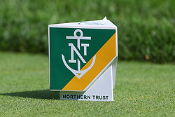 August 25, 2018 - Paramus, NJ, U.S. - PARAMUS, NJ - AUGUST 25:    A general view of a tee box marker  during the third round of The Northern Trust on August 25, 2018 at the Ridgewood Championship Course in Ridgewood, New Jersey.   (Photo by Rich Graessle/Icon Sportswire) (Credit Image: © Rich Graessle/Icon SMI via ZUMA Press)