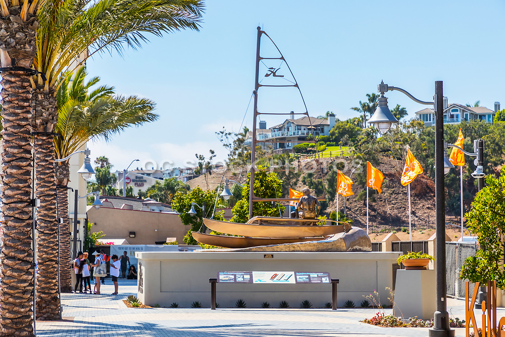 Hobie Memorial Sculpture in the New South Cove Community of Dana Point