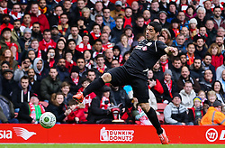 Luis Suarez controls the ball - Photo mandatory by-line: Dougie Allward/JMP - Mobile: 07966 386802 - 29/03/2015 - SPORT - Football - Liverpool - Anfield Stadium - Gerrard's Squad v Carragher's Squad - Liverpool FC All stars Game