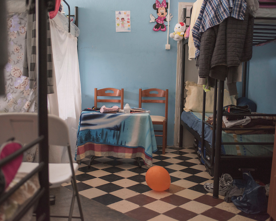 One of the rooms at PIKPA, a refuge opened in January 2016 by the Leros Solidarity Network as a shelter for families and unaccompanied minors.