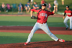 06 June 2014:  Peter Gehle during a Frontier League Baseball game between the Frontier Freedom and the Normal CornBelters at Corn Crib Stadium on the campus of Heartland Community College in Normal Illinois