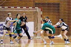 Nina Jericek at last 10th Round handball match of Slovenian Women National Championships between RK Krim Mercator and RK Olimpija, on May 15, 2010, in Galjevica, Ljubljana, Slovenia. Olimpija defeated Krim 39-36, but Krim became Slovenian National Champion. (Photo by Vid Ponikvar / Sportida)