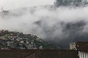 Foggy panorama of Quito. Quito, Pichincha, Ecuador. February 18, 2013.