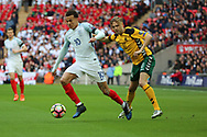 Dele Alli of England dribbling during the FIFA World Cup Qualifier group stage match between England and Lithuania at Wembley Stadium, London, England on 26 March 2017. Photo by Matthew Redman.
