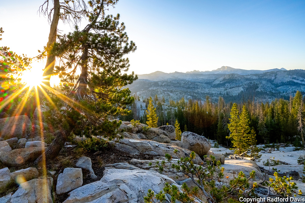 The John Muir Trail at sunrise. California.