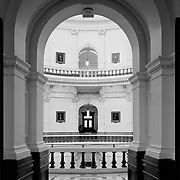View through the rotunda at the Texas Capitol in Austin. <br /> Photo by Nathan Lambrecht