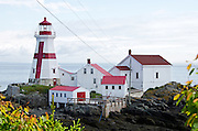 The East Quoddy Lighthouse is also known as the Head Harbor Light. Campobello Island, New Brunswick.