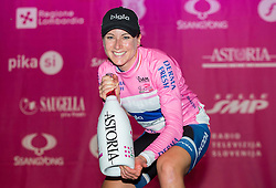Winner Annemiek Van Vleuten (Ned) Bigla Pro Cycling in rose jersey during flower ceremony after the Prologue - Time Trial (2km) at 26th Giro Rosa 2015 Women cycling race, on July 3, 2015 in Centre, Ljubljana,  Slovenia. Photo by Vid Ponikvar / Sportida