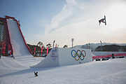 Redmond Gerald, USA, during the mens snowboard big air qualification at the Pyeongchang 2018 Winter Olympics on February 21st 2018, at the Alpensia Ski Jumping Centre in Pyeongchang-gun, South Korea
