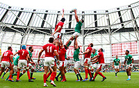Rugby Union - 2019 pre-Rugby World Cup warm-up (Guinness Summer Series) - Ireland vs. Wales<br /> <br /> CJ Stander (Ireland) wins a lineout at The Aviva Stadium.<br /> <br /> COLORSPORT/KEN SUTTON
