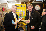 Damien English TD, Minister of State at the Department of Jobs, Enterprise & Innovation at the Hurlog stand at the annual SCCUL Enterprise Awards prize giving ceremony and business expo which was hosted by NUI Galway in the Bailey Allen Hall, NUIG. Photo:Andrew Downes