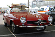 Red Alfa Romeo Sports car