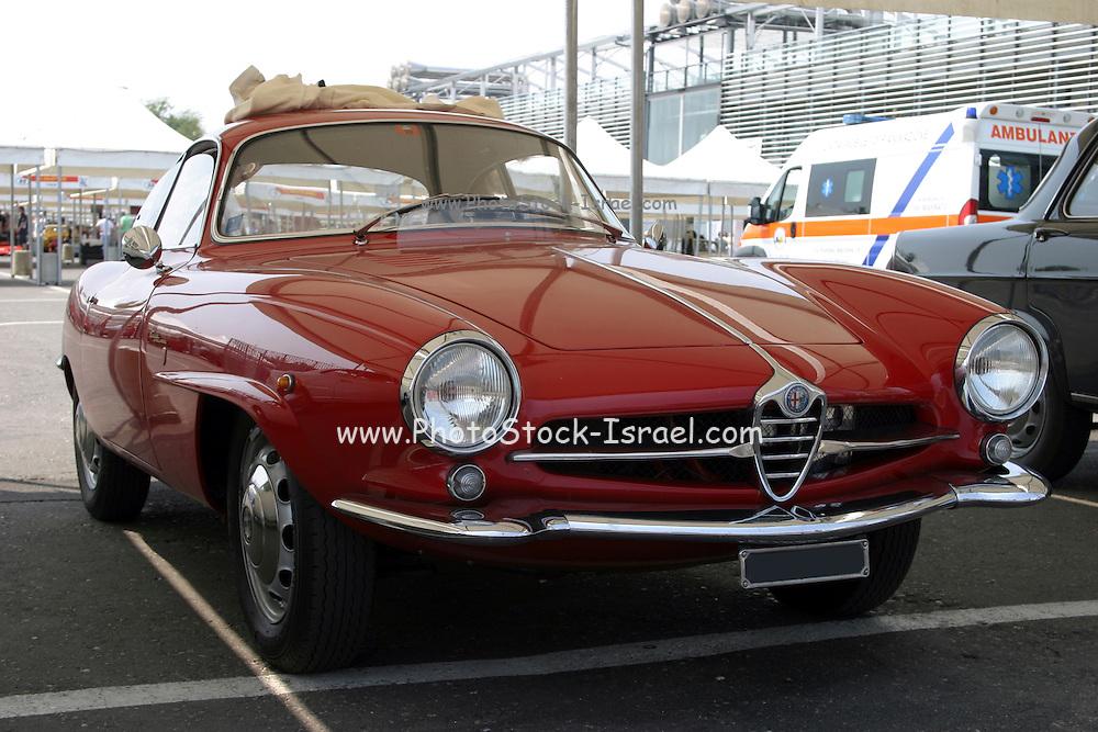 Red Alfa Romeo Sports car