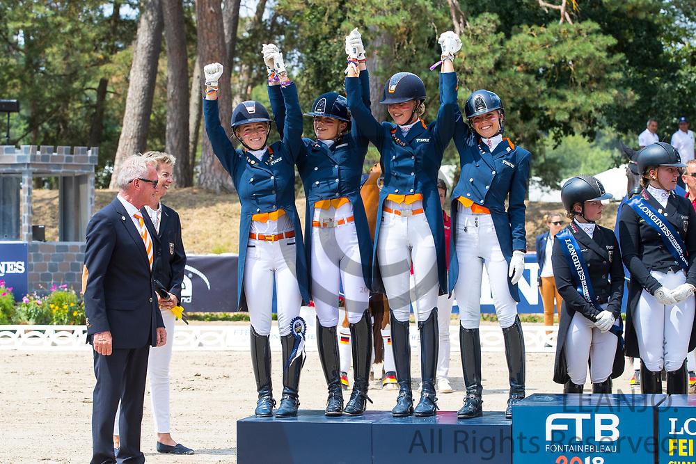 Team Netherlands - Silver<br /> Longines FEI European Championships 2018<br /> © DigiShots