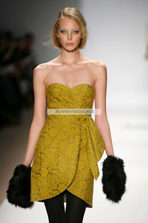 Tanya Dziahileva walks the runway wearing Tibi Fall 2009 collection