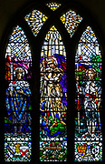 Stained glass window Saint Mary the Virgin church, Calne, Wiltshire, England, UK by Whall and Whall 1917