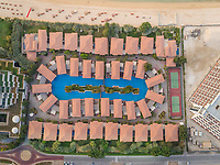 DUBAI, UNITED ARAB EMIRATES - 30 APRIL 2018: Aerial view of Ottoman Palace luxurious hotel in Dubai, UAE.
