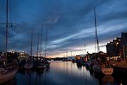 Bergen at night.