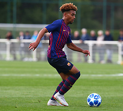 October 3, 2018 - London, England, United Kingdom - Enfield, UK. 03 October, 2018.Konrad de la Fuente of FC Barcelona.during UEFA Youth League match between Tottenham Hotspur and FC Barcelona at Hotspur Way, Enfield. (Credit Image: © Action Foto Sport/NurPhoto/ZUMA Press)