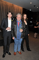 Left to right, SASCHA BAILEY, DAVID BAILEY and CATHERINE BAILEY at the launch of Samsung's NX Smart Camera at charity auction with David Bailey in aid of Marie Curie Cancer Care at the Bulgari Hotel, 171 Knightsbridge, London on 14th May 2013.