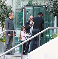 The Manchester United team arrive at The Lowry Hotel on Saturday evening to prepare for their home game against West Brom on Sunday afternoon. Seen: Anthony Martial.