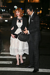 Christina Hendricks and Geoffrey Arend are seen arriving at the Brooks Brothers Bicentennial Celebration in New York City. 25 Apr 2018 Pictured: Christina Hendricks and Geoffrey Arend. Photo credit: ZapatA/MEGA TheMegaAgency.com +1 888 505 6342