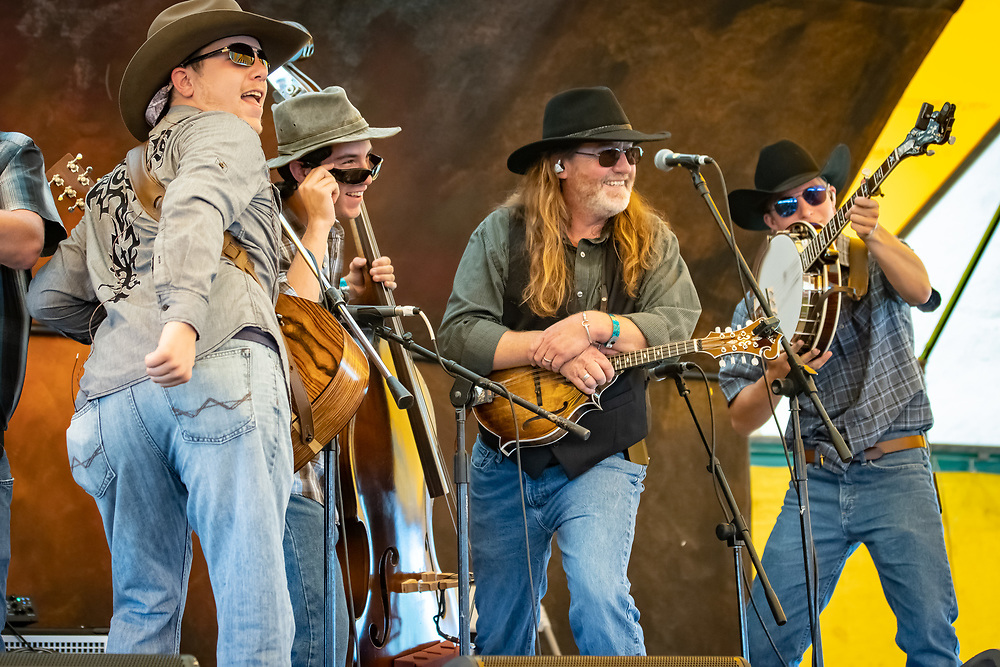 Nothing Fancy performs at the 2019 High Mountain Hay Fever Bluegrass Festival.