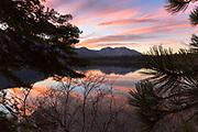 Fallen Leaf Lake.  Lake Tahoe Basin.  California.<br /> November, 2017.