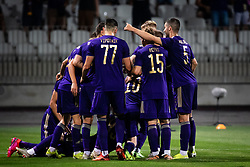Players of Maribor celebrate their goal during football match between NK Maribor and FC Urartu in 1st qualifying round of UEFA Europa Conference League, on 8th of July, 2021 in Ljudski Vrt, Maribor, Slovenia. Photo by Blaž Weindorfer / Sportida