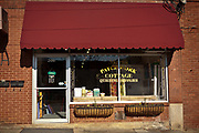 The Patchwork Cottage Quilting shop on Cherry Street in Black Mountain, North Carolina.