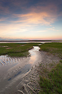 Low tide at sunset on the flats, Paine's Creek Beach, Brewster.
