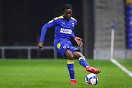 AFC Wimbledon defender Paul Osew (37) passing the ball during the EFL Trophy match between AFC Wimbledon and U21 Arsenal at Plough Lane, London, United Kingdom on 8 December 2020.